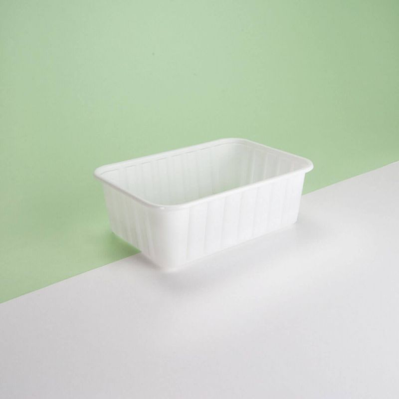 Vaschetta plastica bianca 152x108x55 mm - Neutro