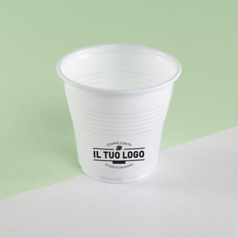 White plastic coffee cups 80 cc