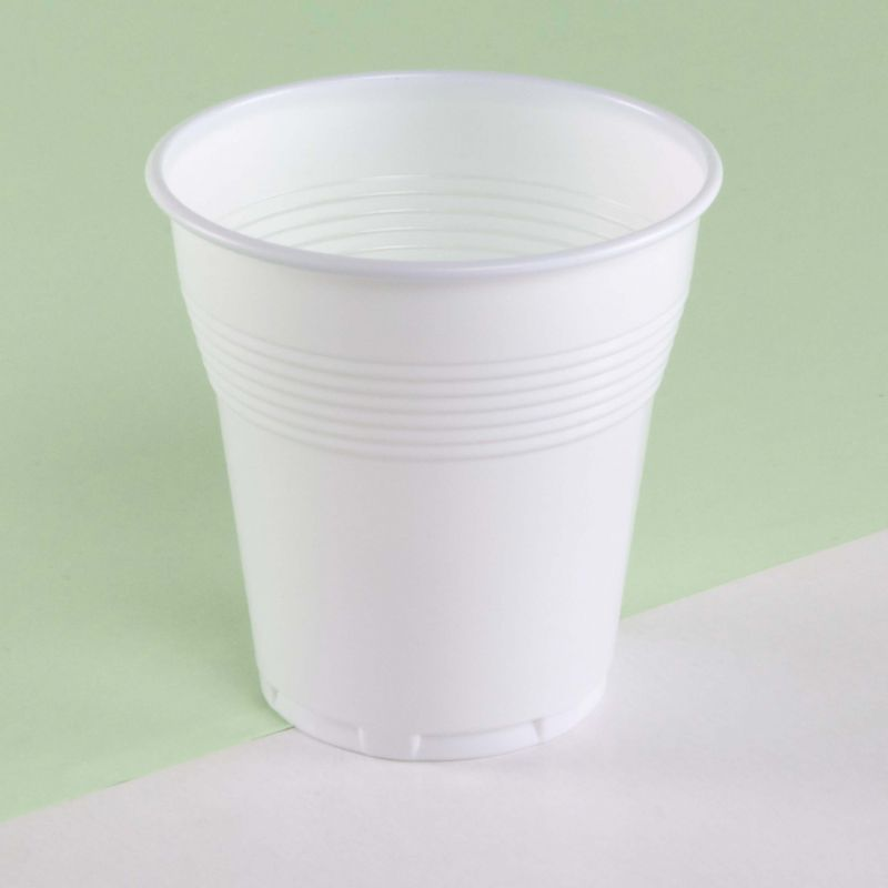 White plastic cups 166 cc - Neutral
