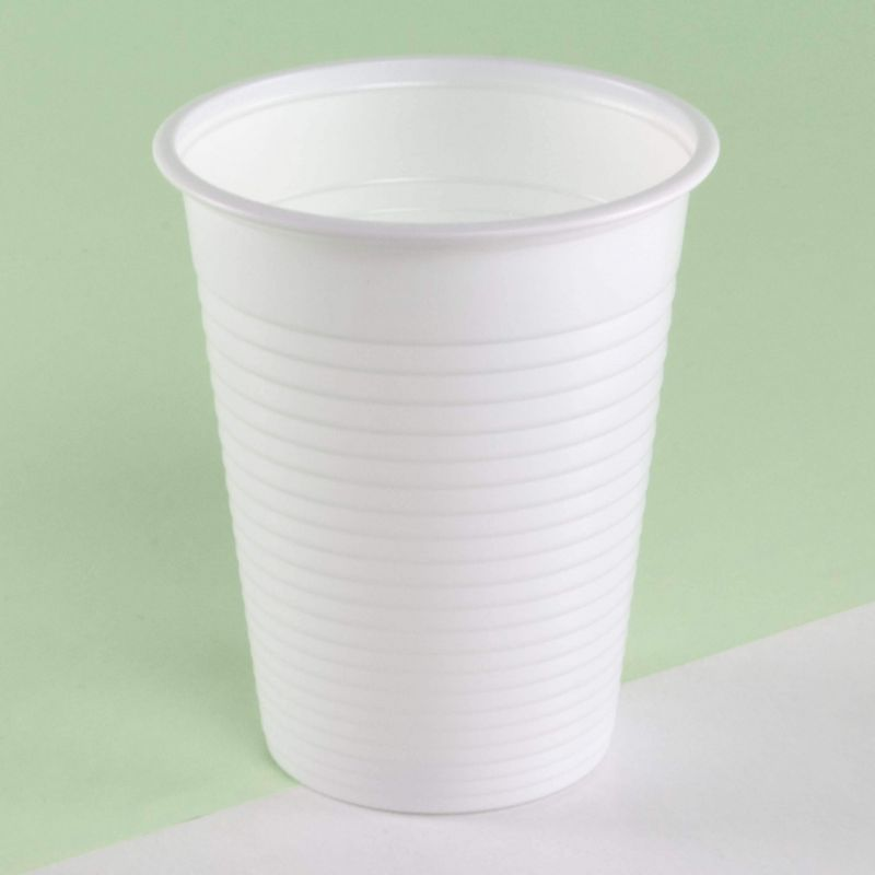 White plastic cups 200 cc - Neutral