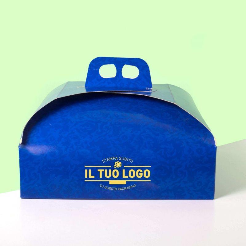 Blue cake box