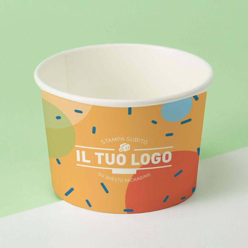 Coppette Cartoncino Quadricromia C230 per gelato