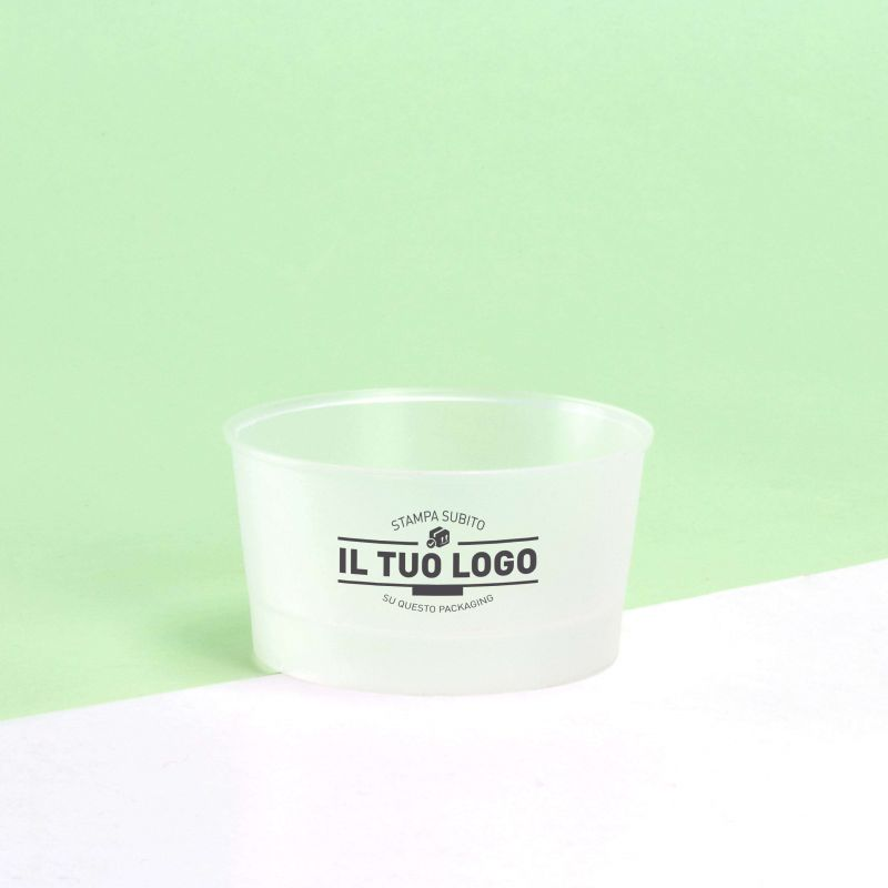 Ice-cream transparent plastic cups 90 cc