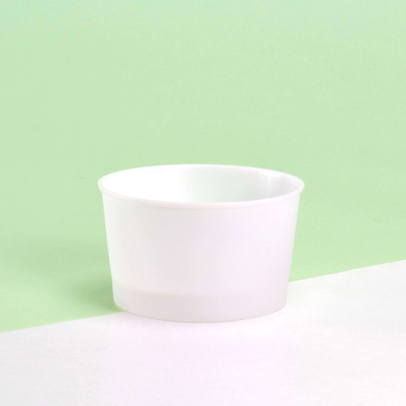 White Ice-cream plastic cups 140 cc - Neutral