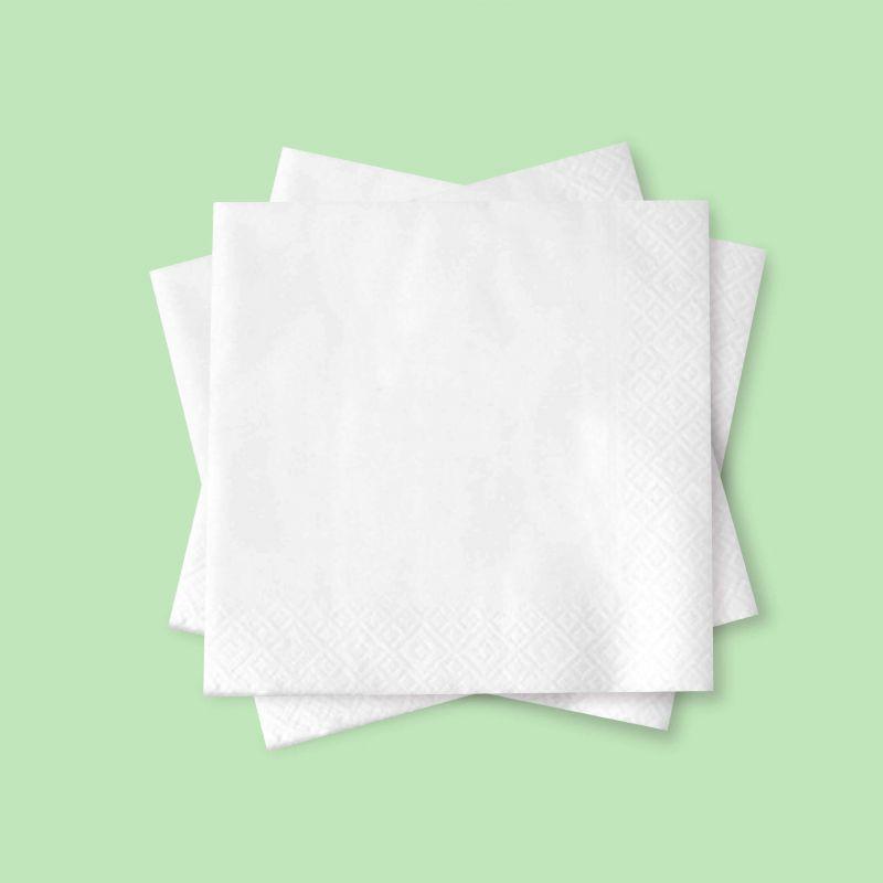 Tovaglioli bianchi 25 x 25 - 2 Veli - Neutri