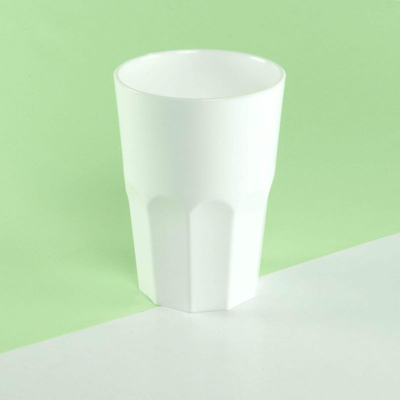 White hard plastic cups 350cc - Neutral