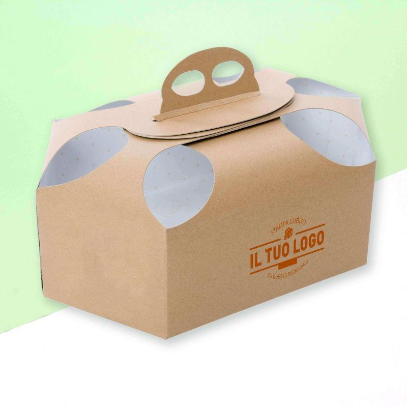 Scatole colomba in cartoncino con fori personalizzate