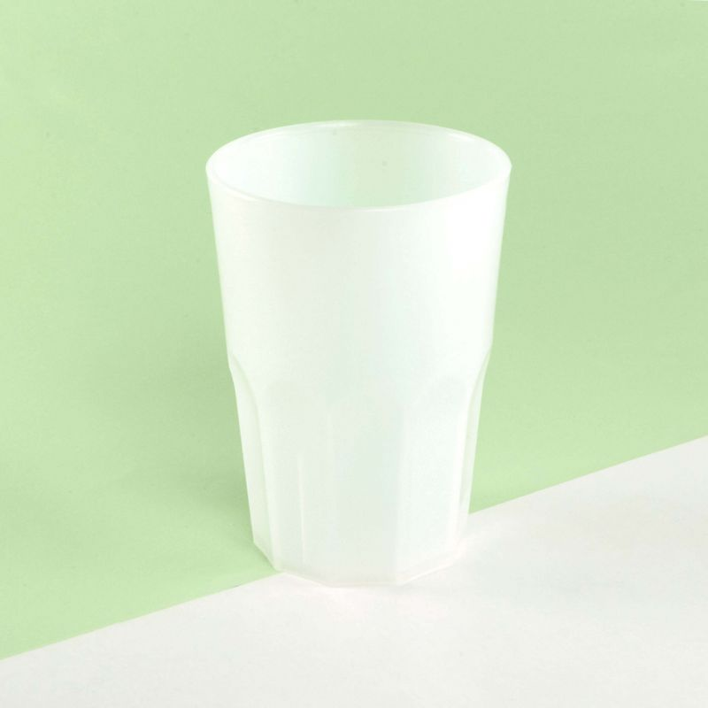 Opaque hard plastic cups 350 cc - Neutral