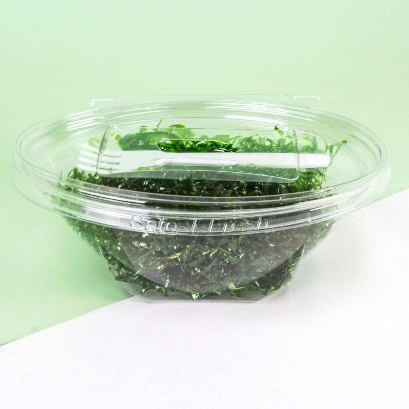 Contenitori Safe-T-Fresh ovale con forchetta bianca