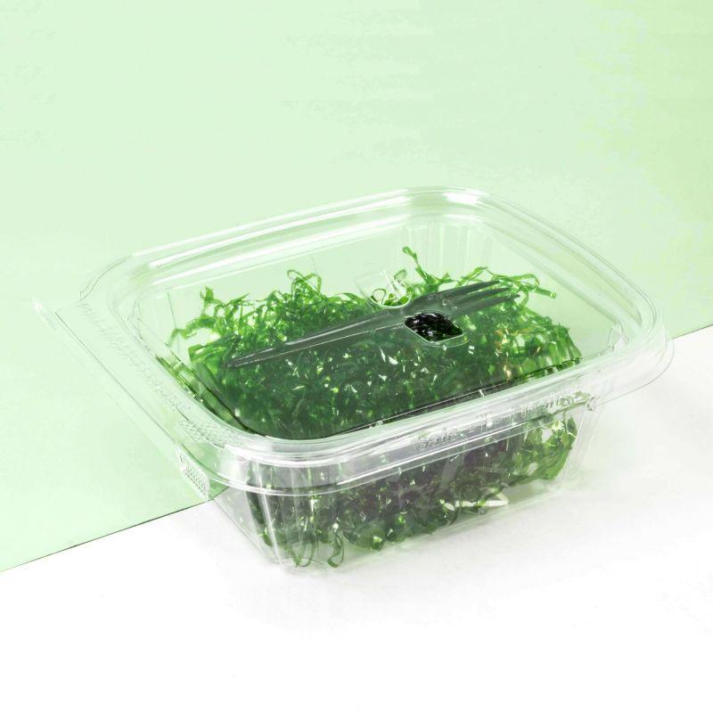 Contenitori Safe-T-Fresh con sigillo rettangolari 500ml con forchetta agganciata