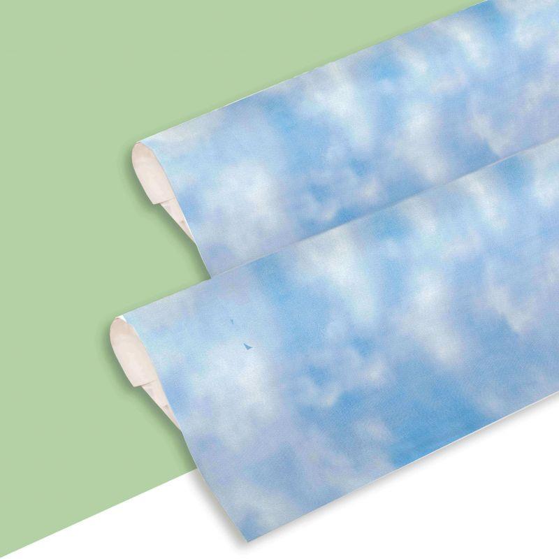 Carta past. accoppiata nuvolato azzurro (100x75cm)-Neutra