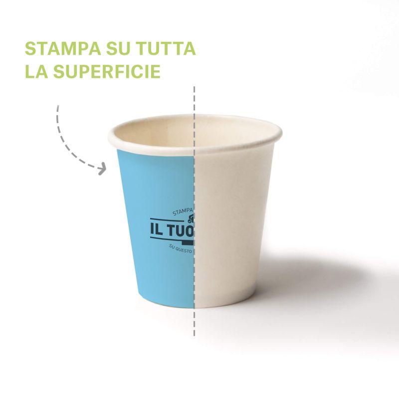 Bicchieri Cartoncino caffè 70 cc. quadricromia - fondo pieno 2.5 oz