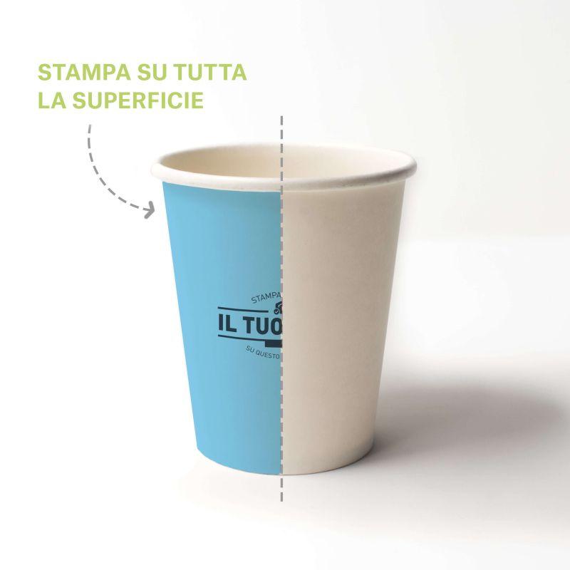 Compostable PLA cups 250 cc - 8 oz - Custom design