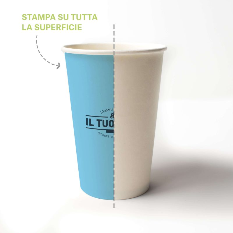 Compostable PLA cup 350 cc - 12 oz - Custom design