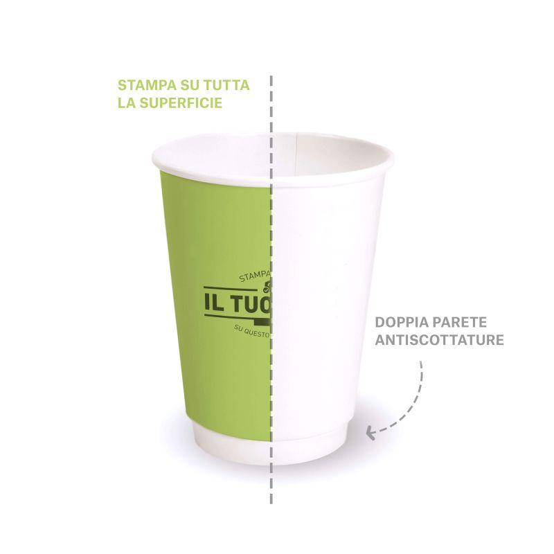Double wall compostable pla cups 250 cc custom design