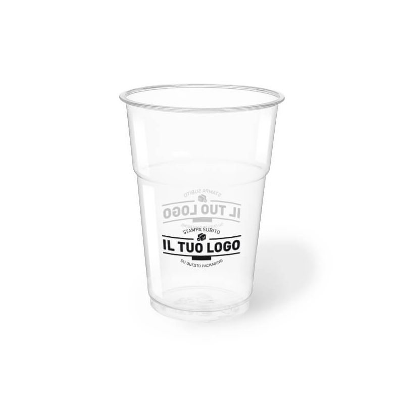 Bicchiere kristal pet compostabile 400 cc
