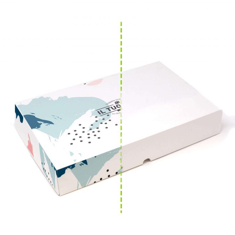 Scatole rettangolari da pasticceria 15,5x24x5 cm - fino a 4 colori