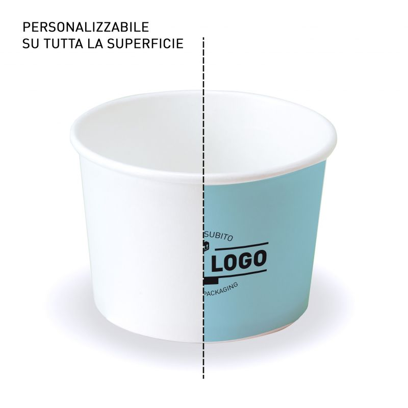 Ice cream cups to customize with your design - 8 oz