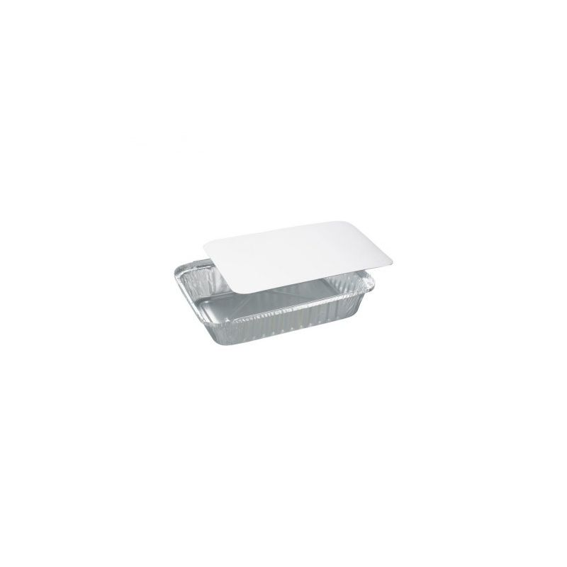 Aluminium foil pans with lid 148x123x25 mm