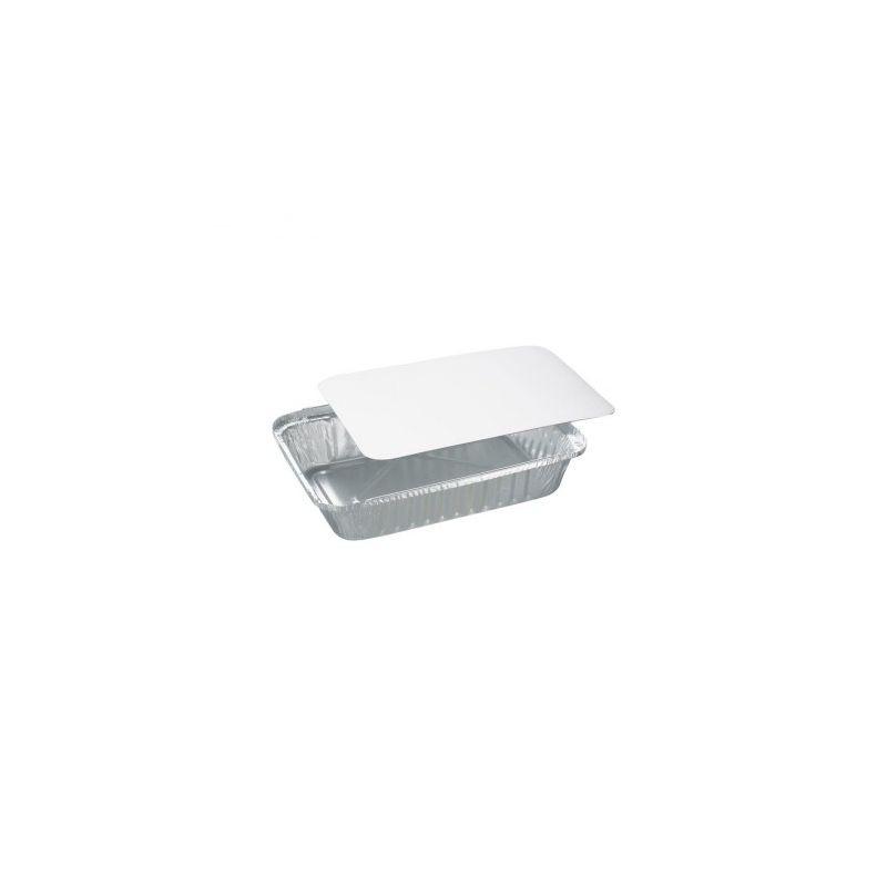 Contenitori alluminio con coperchio 148x123x25 mm