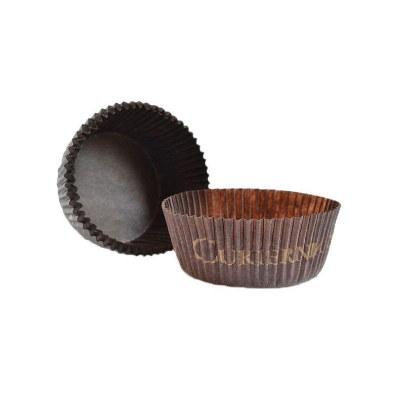 Customizable Brown Circular Baking Cups n.2 (3,5x2,1 cm)