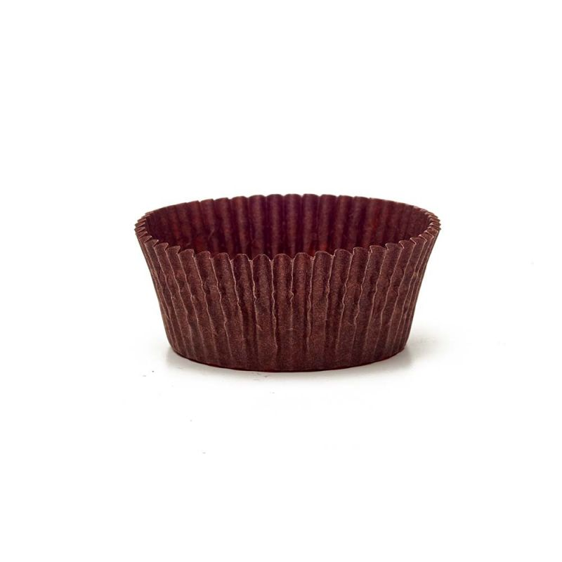 Brown Circular Baking Cups n.6 (ø44x h23 mm)