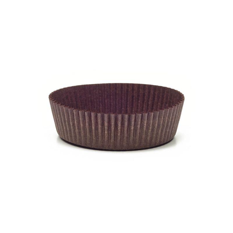 Brown Circular Baking Cups n.9B (ø70x h25 mm)