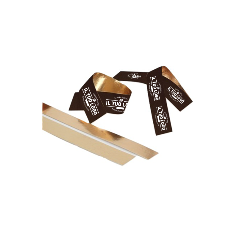 Liste politenate interno ORO + plastif. Stamp. 1/2 colori 5x100 cm