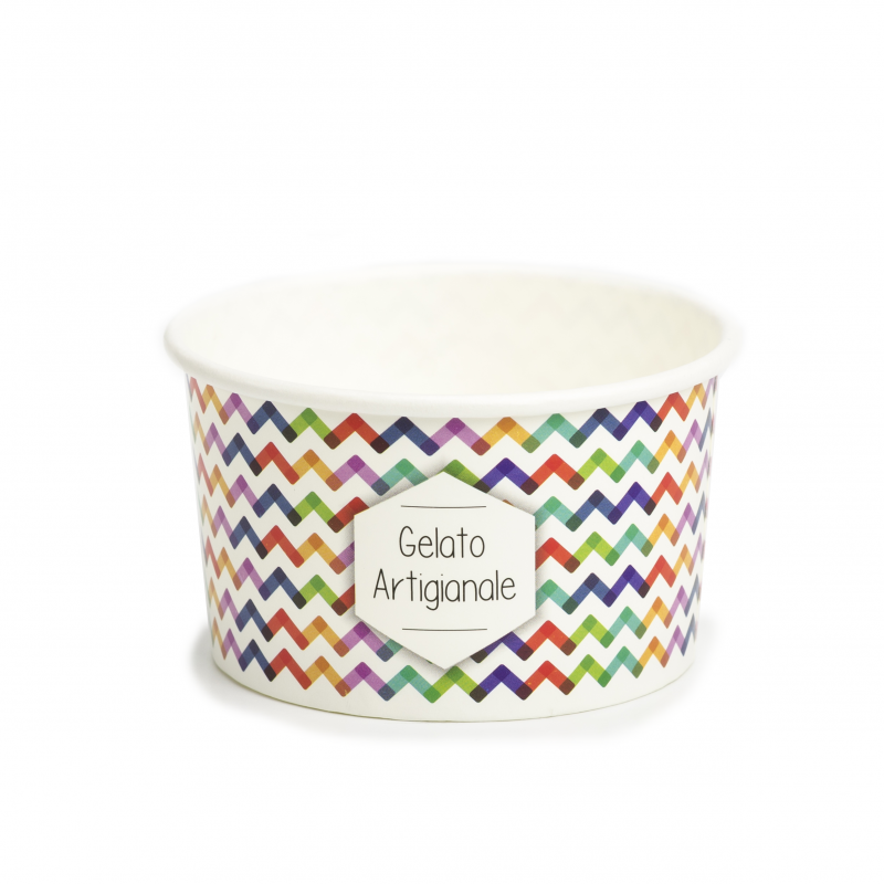 Coppette Cartoncino C120 per gelato - Multicolor