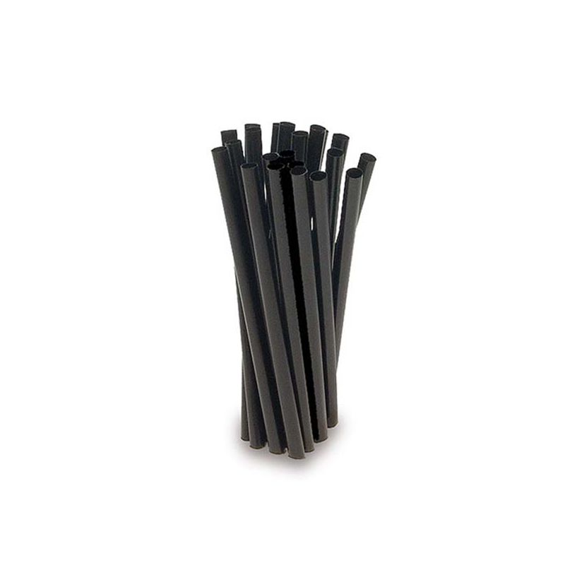 Black straight straws