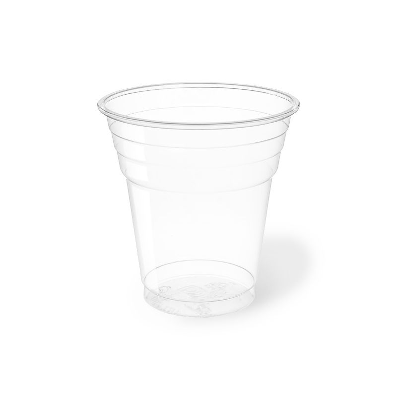 Clear Plastic PET Cups 200 cc Compostable - Neutral