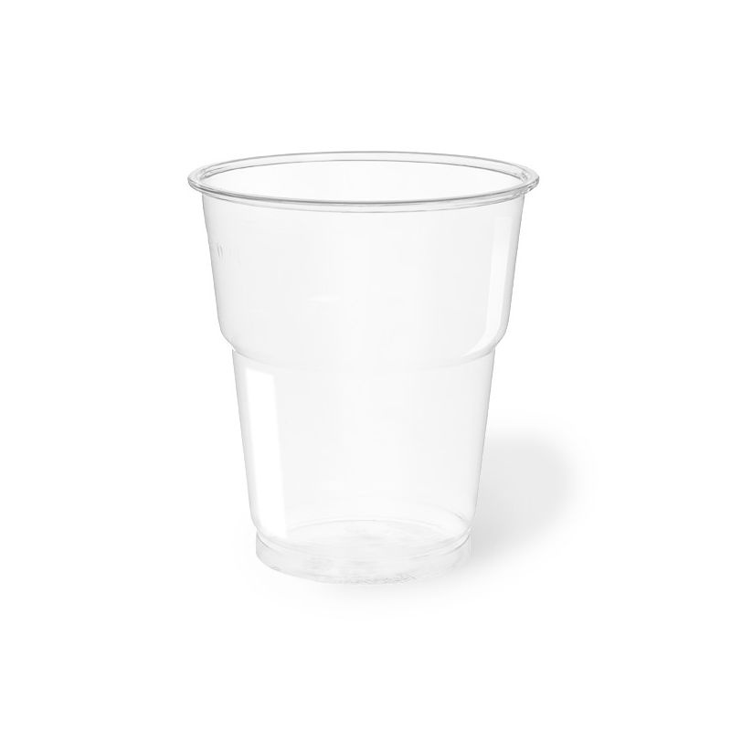 Clear Plastic PET Cups 250 cc compostable - neutral