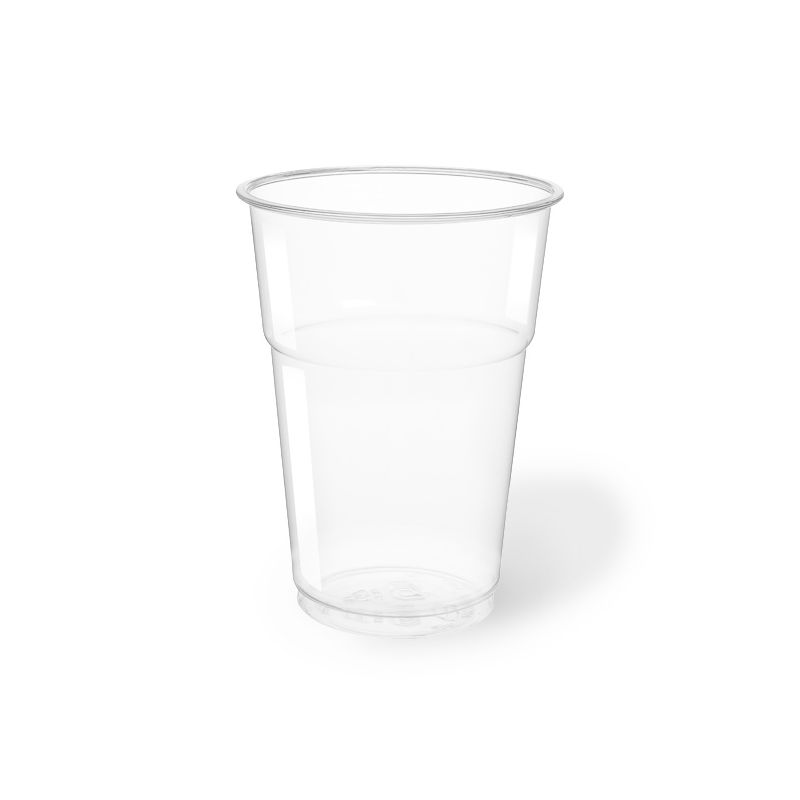 Clear Plastic PET Cups 400 cc compostable - neutral