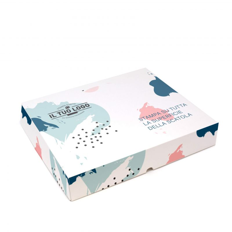 Boxes for pastry to customize - 40x40x7 - up to 4 colours