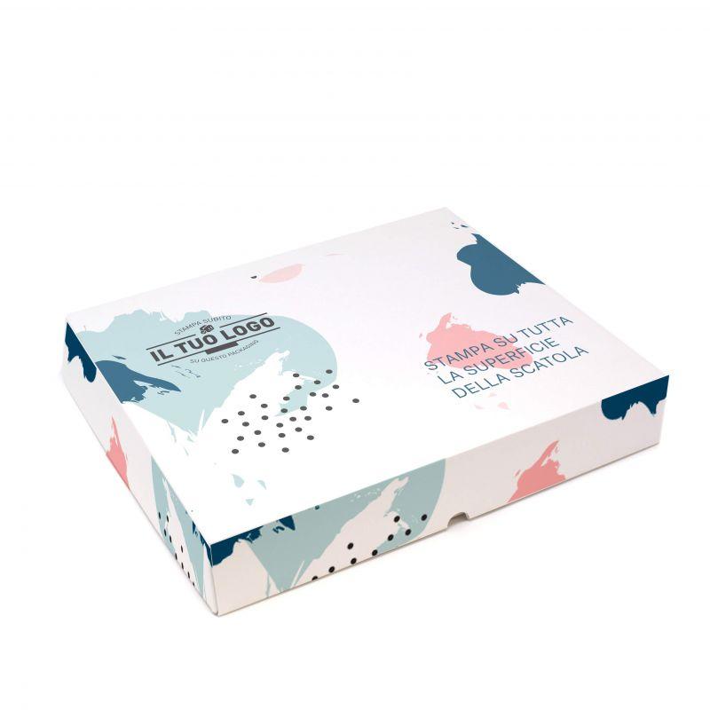 Scatole quadrate da pasticceria - 27x27x10 - fino 4 colori