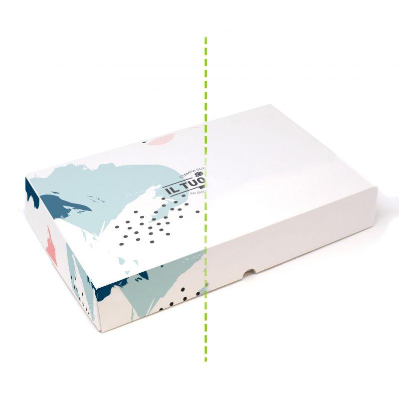 Scatole rettangolari da pasticceria 16,5x20x5 cm - fino a 4 colori