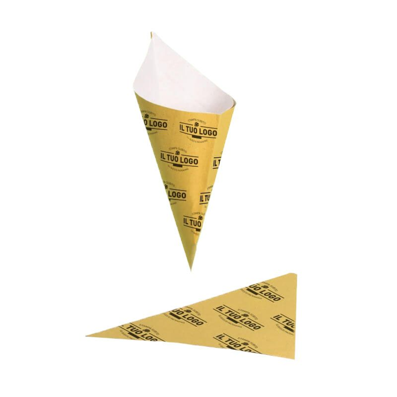 Straw paper cone gr 250 with blotting paper