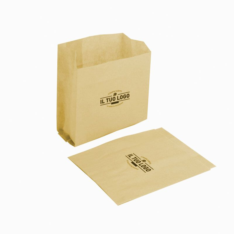 Sand paper kraft bags for french fries