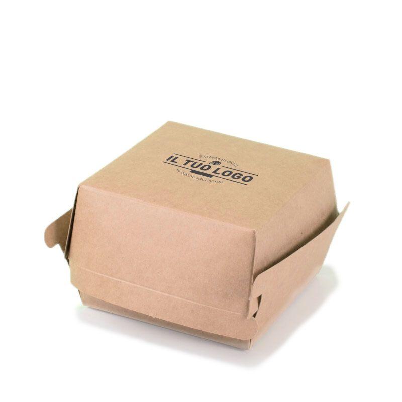 brown kraft paper hamburger box