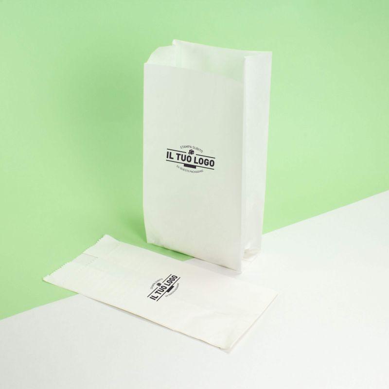 Sacchetti Kraft antigrasso bianchi