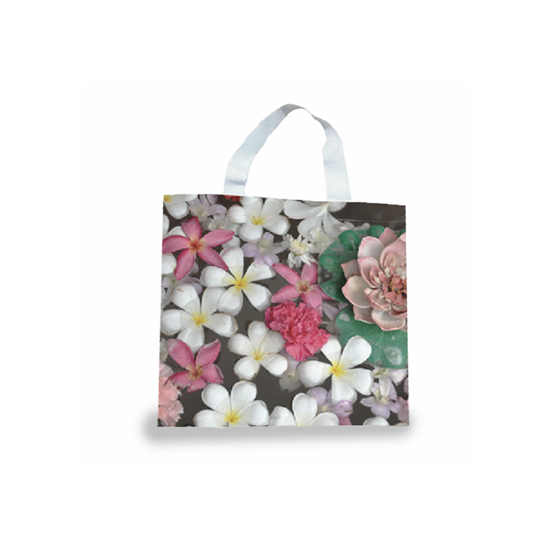 Cotton shoppers 45 x 36 x 9 cm with side gusset