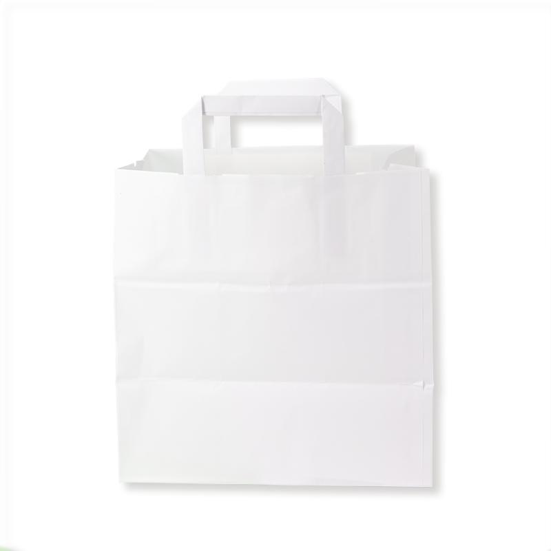Shoppers Kraft manico piattina (26+18x26 h) - Neutro