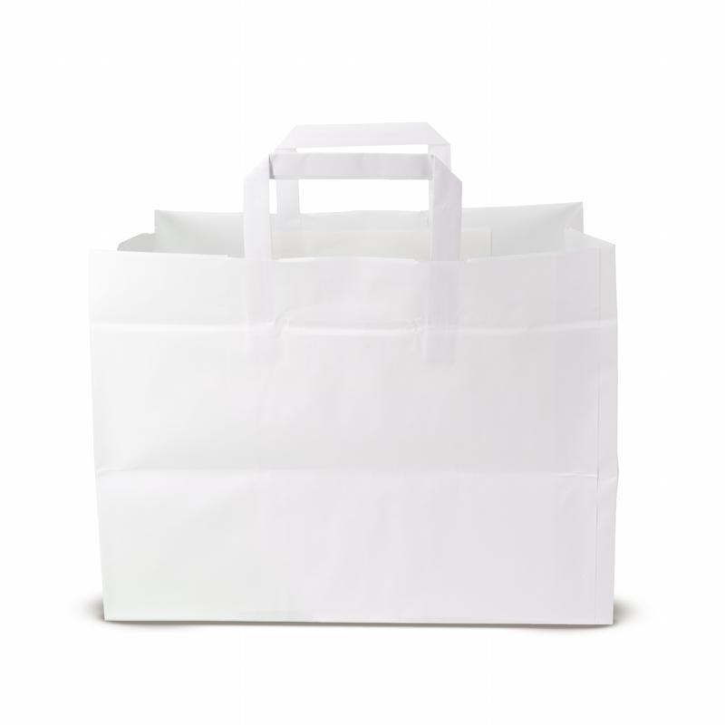 Shoppers Kraft manico piattina (32+23x20 h) - Neutro