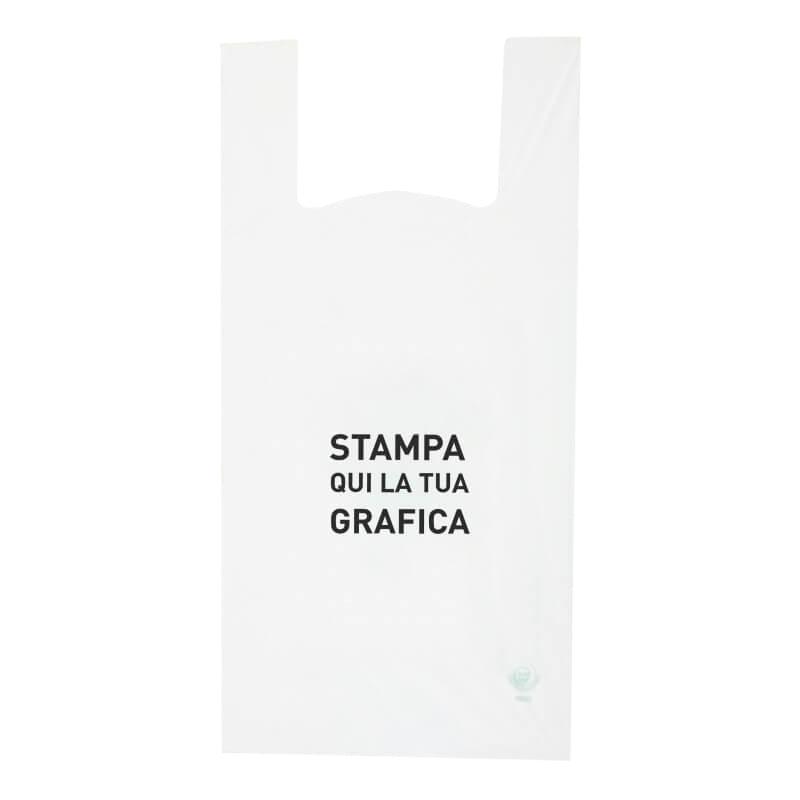 Shoppers bio compostabile stampa 1 colore