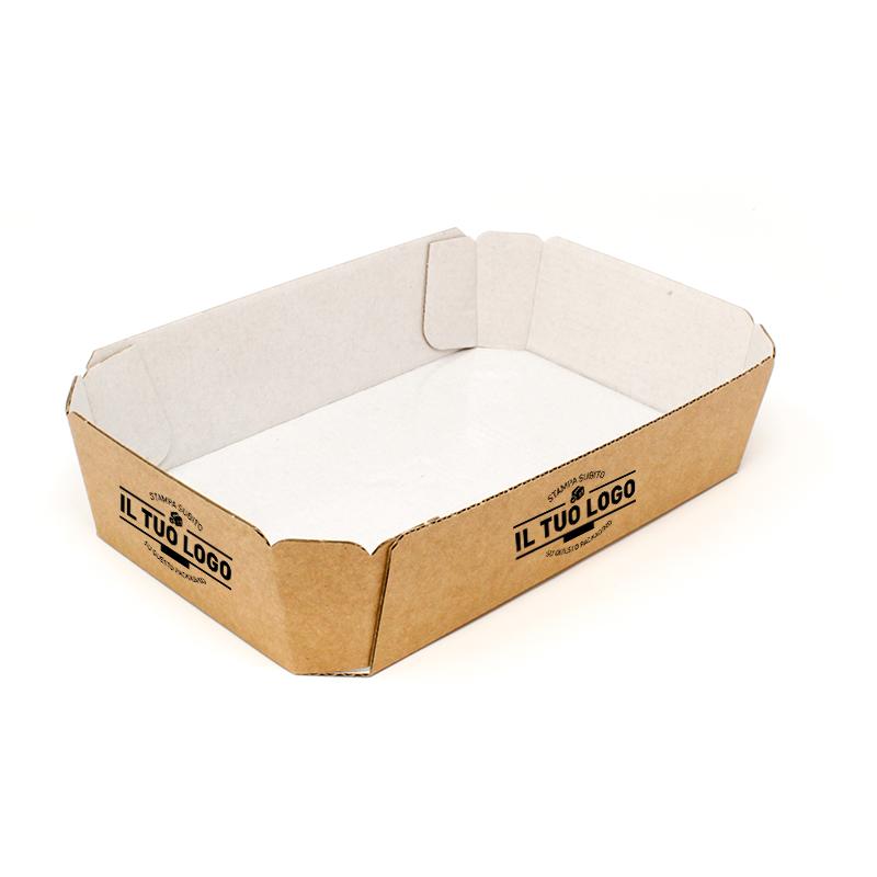 Vassoi in Cartoncino per alimenti COD.5 Personalizzabili