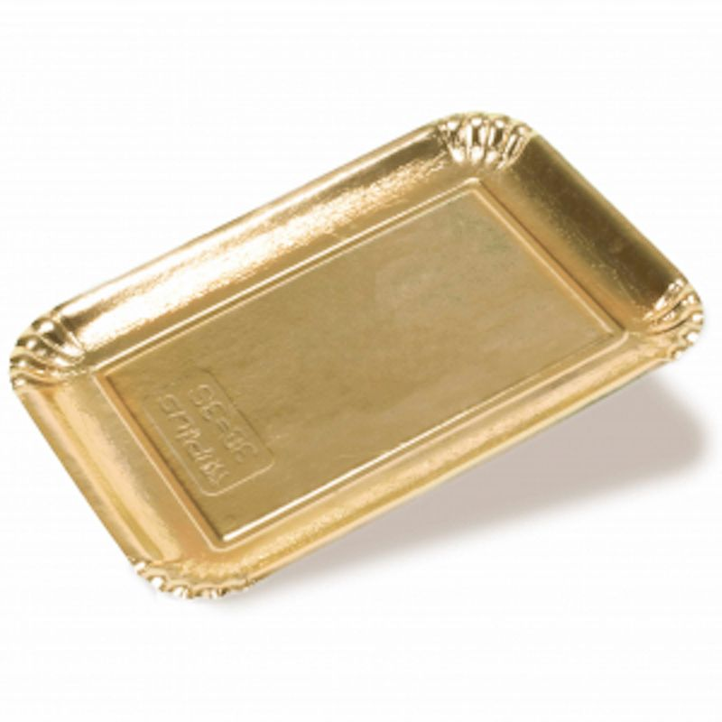 Golden coloured cardboard trays - Dry press
