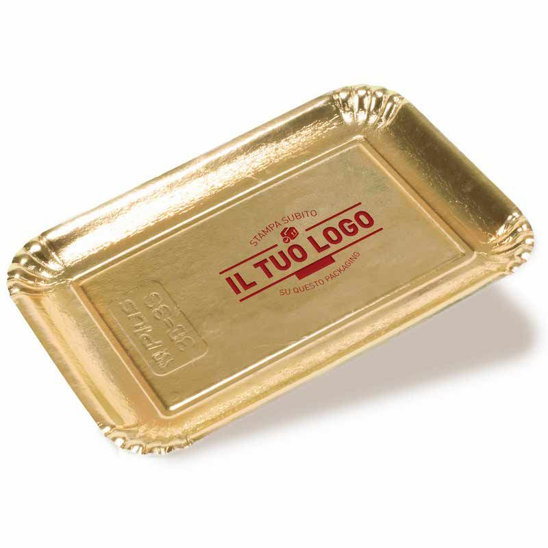Golden coloured cardboard trays