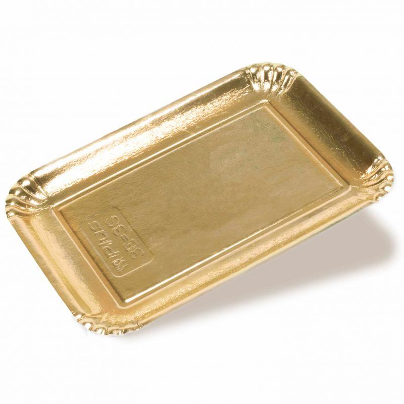 Golden cardboard trays -  Neutral