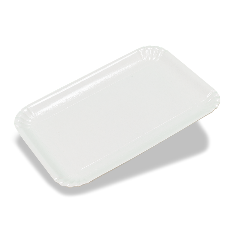 White cardboard tray for pastries - Dry press