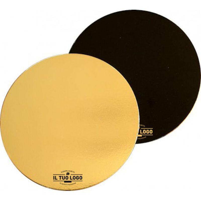 Black/gold cardboard circular cake trays